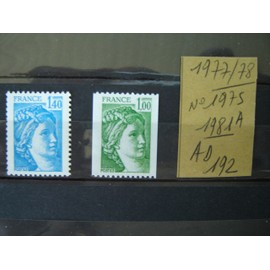 AD 192 / LOT TIMBRES NEUFS FRANCE 1977 /1978 / N°1975/1981A
