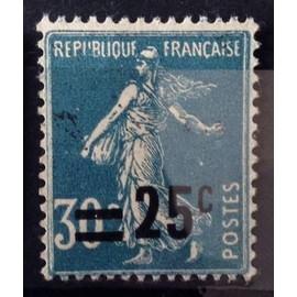 Semeuse 25c / 30c bleu (Très Joli n° 217) Obl - France Année 1926 - N10697