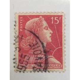 "timbre ""Marianne de Muller 15 Francs"""
