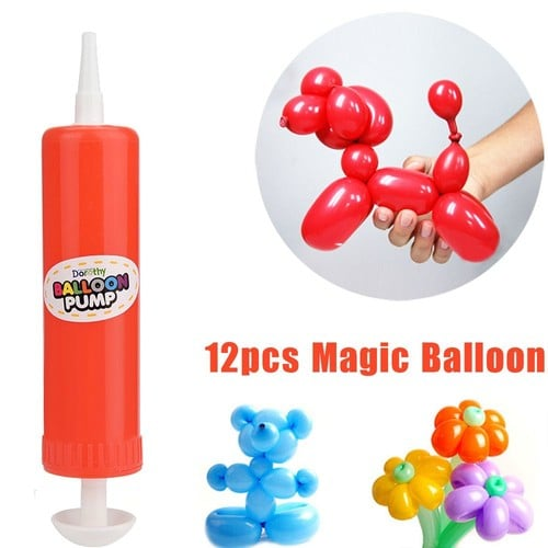 12pcs Latex Twisting Ballons Magic Long Ballons Partie Jouets Avec 1pc Pompe 1159712934_L