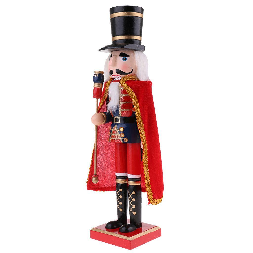 MagiDeal Casse-Noisettes /écossais Figurine Soldat//Roi W//Bois No/ël D/écoration Maison Collection Adulte Enfant #4