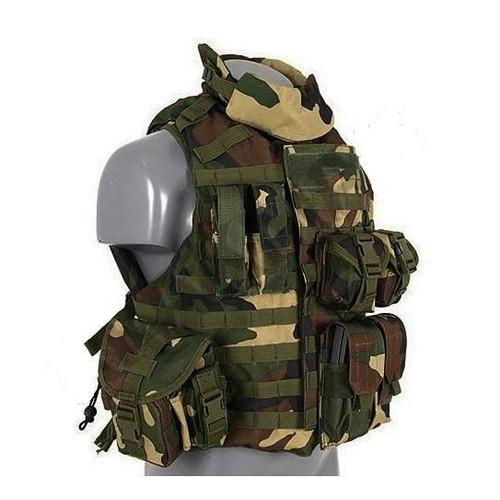ultral/éger Respirant de Combat avec de Multiples Poches pour Mission sp/éciale ext/érieur Op/érations sur Le Terrain et Air-Soft War Games Formation eecoo Durable Combat Veste Tactique