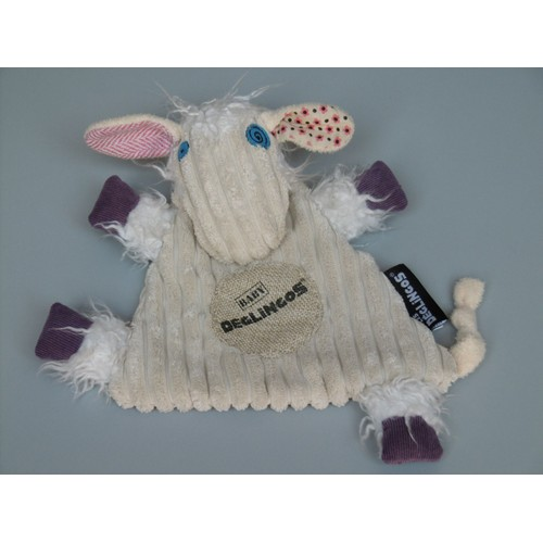 Doudou plat mouton beige LES PETITES MARIE Mouton Plat Semi plat