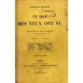 Ce Que Mes Yeux Ont Vu de Meyer, Arthur