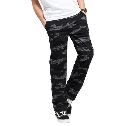 Pantalon Chino Noir motifs Homme Vans Authentic