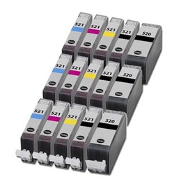 15x Cartouches D'encre Compatibles - Avec Puce - Cyan / Yellow / Magenta / Black Pour Canon/Pixma Ip3600 Ip4600 Mp540 Mp620 Mp630 Mp980 Mx860 Ip4700 Mp550 Mp560
