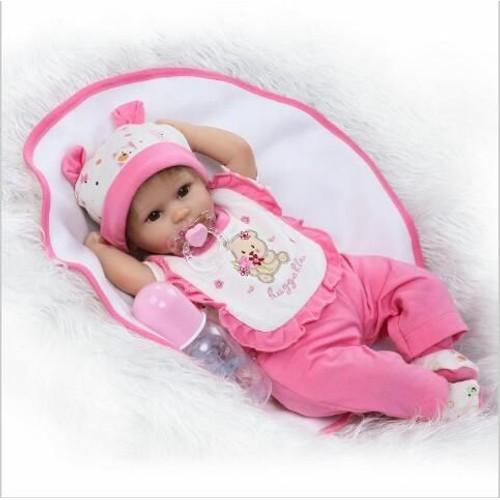16 40 cm silicone reborn baby dolls faux b b reborn premie poup e doux poup es pour enfants. Black Bedroom Furniture Sets. Home Design Ideas