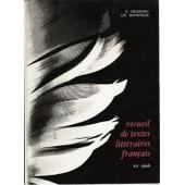 Recueil De Textes Litt�raires Fran�ais - Xxe Si�cle de Senninger