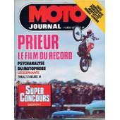 Moto Journal N� 302 : Prieur Le Film Du Record / Psychanalyse Du Motophobe / Les El�phants / Trial : L'heure H / Essai Comparatif : Peugeot 103 - Mobylette - Honda Camino