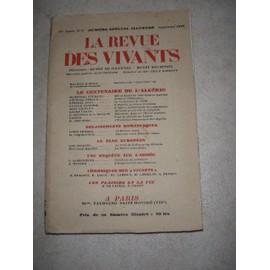 La Revue Des Vivants.N?9 de 1929
