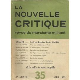 La Nouvelle Revue Critique de 1952