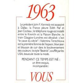 1963 Principaux �v�nements De L'ann�e. Carte D'anniversaire