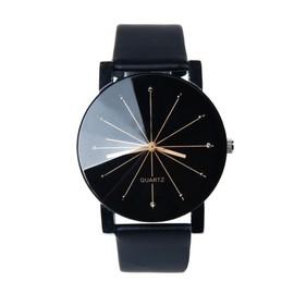 Petite annonce 1pc Hommes Quartz Cadran Horloge Cuir Montre-Bracelet Boîtier Rond - 60000 BEAUVAIS