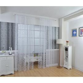 1pcs Plant Imprimé 100x270cm Rideaux Voilage Pour Porte Fenêtre à