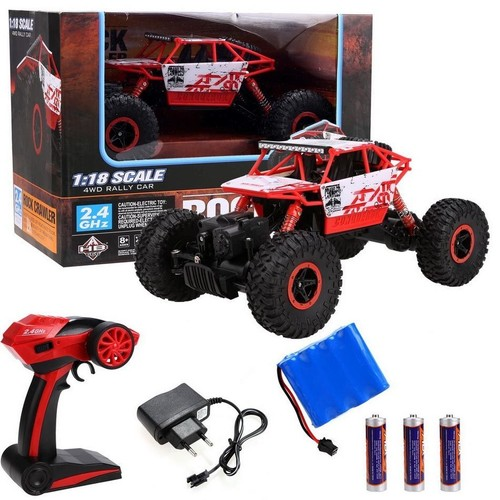 4wd rock crawler tout terrain v hicule neuf rc voiture rally car 01 18 jouets de voiture. Black Bedroom Furniture Sets. Home Design Ideas