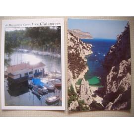 2 Cartes Postales Des Calanques De Marseille: Port Miou Et D'en Vau