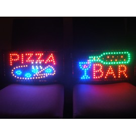 2 enseigne panneau lumineux a led pizza et bar priceminister rakuten. Black Bedroom Furniture Sets. Home Design Ideas