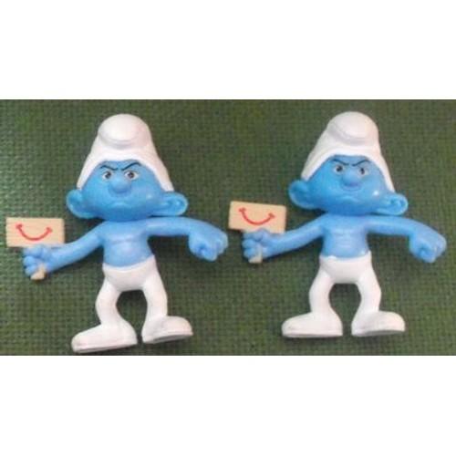 2 figurines schtroumpf grognon mac donalds neuf et d 39 occasion - Stroumpf grognon ...