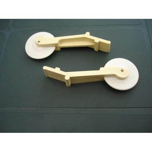 2 roulettes descente maille 8 7 cm pour machines. Black Bedroom Furniture Sets. Home Design Ideas