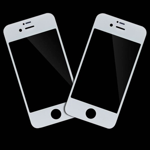 2 x vitre avant blanc en verre sur l 39 ecran lcd pour iphone 4 4s. Black Bedroom Furniture Sets. Home Design Ideas