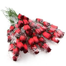 200 roses en bois fleur deco mariage bapteme grossiste priceminister. Black Bedroom Furniture Sets. Home Design Ideas