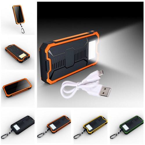 20000mah batterie externe secours portable solaire usb power bank chargeur 2 ports sport orange. Black Bedroom Furniture Sets. Home Design Ideas