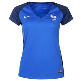 2016-2017 France Home Nike Womens Shirt - France - Official 2016 2017 France Home Womens Shirt available to buy online. This is the new football shirt of the French National Team which will be worn in the Euro 2016 Finals.The new France ladies football kit is manufactured by Nike and is available - France