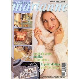 Les Idees De Marianne N� 95, Point De Croix Le Plein D'idees Pour Cet Hiver