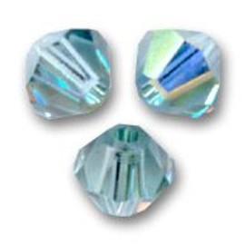 25 Perles Toupies Cristal Swarovski 4mm Indian Sapphire