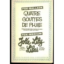 """Un fox ballade """"Quatre gouttes de pluie"""" paroles de Bob Du pac et Catherine Argall musique de Jean Loup Chauby et un fox medium """"Jolie Lily Lilas"""" paroles de Serge Castel et Rudy Rozell musique de Jean Claude Pelletier"""