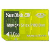 Sandisk - Carte M�moire 1 Go - Memory Stick Pro Duo Gaming Magicgate Pour Sony Psp - Jaune