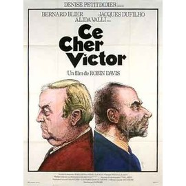 CE CHER VICTOR - Affiche Cinema Originale - 120 x 160 cm - 47 x 63 in avec JACQUES DUFILHO, BERNARD BLIER et ALIDA VALLI
