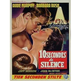 10 SECONDES DE SILENCE - Affiche Cinema Originale - 35 x 55 cm - 14 x 22 in avec AUDIE MURPHY, BARBARA RUSH et JEFF MORROW