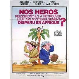 NOS HEROS REUSSIRONT ILS A RETROUVER ... - Affiche Cinema Originale - 120 x 160 cm - 47 x 63 in avec ALBERTO SORDI, BERNARD BLIER et NINO MANFREDI
