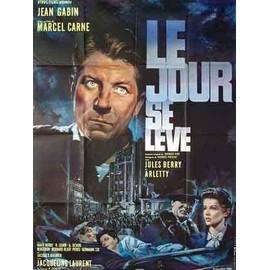 JOUR SE LEVE (le) - Affiche Cinema Originale - 120 x 160 cm - 47 x 63 in avec JEAN GABIN, JULES BERRY et ARLETTY