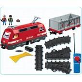 Playmobil 4010 - Train De Marchandises Rc Avec Phares
