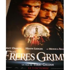 Les frères Grimm - Affiche géante plastique collector ! - Matt Damon, Heath Ledger, Monica Bellucci - Modèle 1