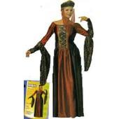 Costume De D�guisement Marquise Robe Avec Coiffe Taille Unique 38/42