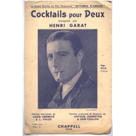 Henri Garat. Cocktails pour Deux. 1934.