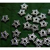 Perles Intercalaires �toiles En Argent Du Tibet - X30