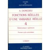 Crs Maths T. - 4 Fonctions Reelles Variabl Ree de Doneddu