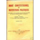 Droit Constitutionnel de Georges Burdeau