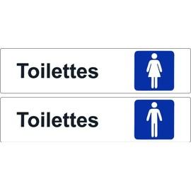 2x autocollant sticker porte commerce bureau toilettes for Autocollant porte wc