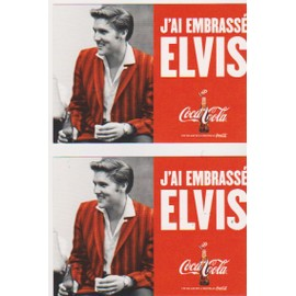 3 Cartes Postales J Ai Embrass� Elvis Coca Cola