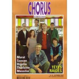 Chorus - Les Cahiers De La Chanson N� 49 : T�tes Raides