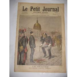 Petit Journal Supplement Illustre N� 217 : Le Traitre D�gradation D'alfred Dreyfus