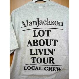 ALAN JACKSON - T Shirt Lot about livin' tour LOCAL CREW