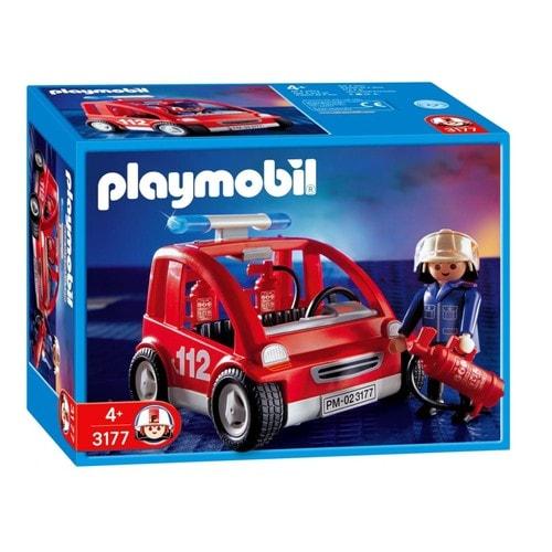 Playmobil 3177 capitaine des pompiers et v hicule - Playmobil de pompier ...