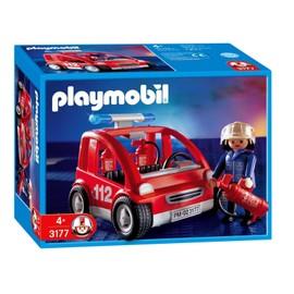 Playmobil 3177 - Capitaine Des Pompiers Et V�hicule