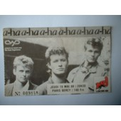 Ticket De Concert A-Ha 1988